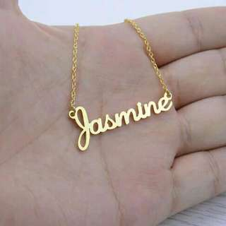 [PREORDER] Custom Personalised Name Necklace Gold