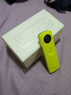 Ricoh Theta M15 360°camera LIMITED EDITION YELLOW Full Set