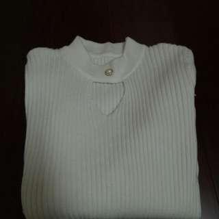 小性感白色貼身上衣