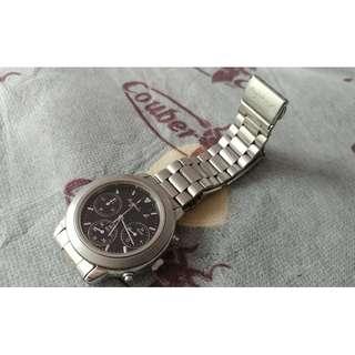 Agnes b V654-6100 三問鋼錶 Quartz Watch