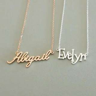 [PREORDER] Custom Personalised Name Necklace Silver/Rose Gold