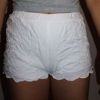 Pacsun white embroidered shorts