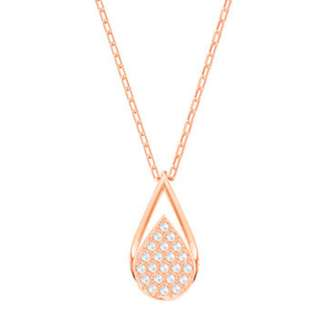 Swarovski Ginger Necklace, Small, White, Rose gold plating