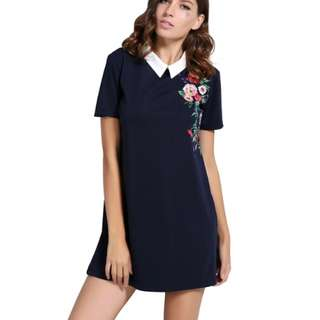 collared one piece floral dress | PO