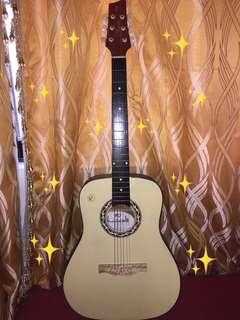Guitar w/ Case Bag & Plectrum