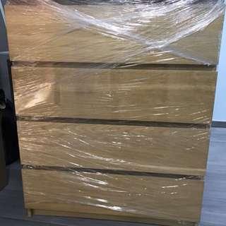 4 door drawers 4桶櫃 木 闊19x長32x高39.5