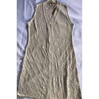 Belldini Open Weave Knit Duster Vest