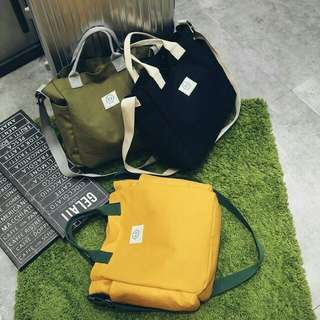 Japanese Fashion Solid Color Shoulder Bag / Tas Selempang