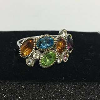 彩色寶石18KR戒指