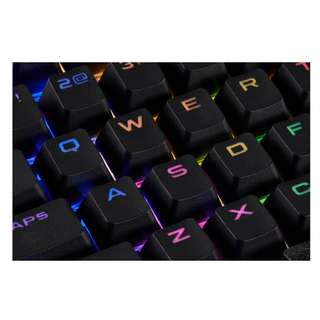 CORSAIR GAMING PBT Double-shot Keycaps Full 104/105-Keyset Black White