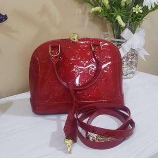 LV Alma Vernis Red mini