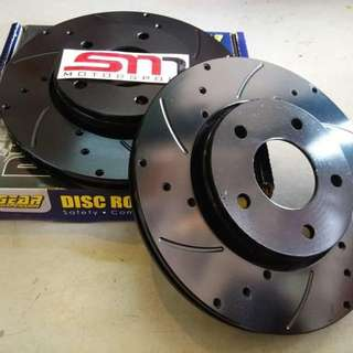 GEAR crossed drilled performance brake disc rotor