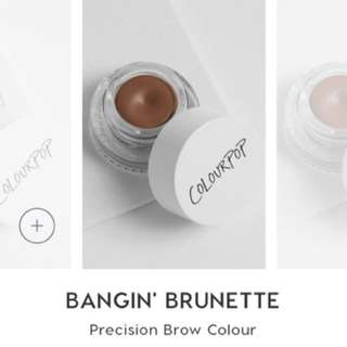 BNIP sealed colourpop banging brunette eyebrow perfection pod