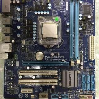 gigabyte motherboard ga-h55m-s2v WITH CORE I5 PROCESSOR