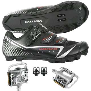 Mountain Bicycle Shoes & Pedals.