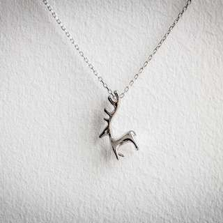 Reindeer Silver Necklace