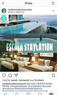 Escala Tagaytay Hotel Staycation