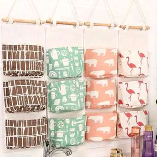 Sundries Bags Linen Hanging Organizer Storage Pockets