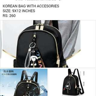 korean bag with accesories