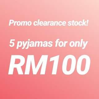 Pyjamas 5 for Rm100