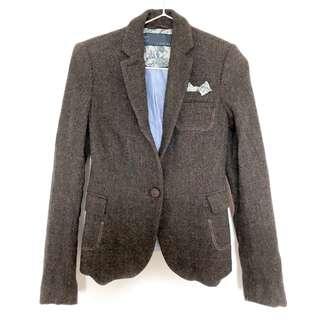 ZARA English blazer with elbow patch