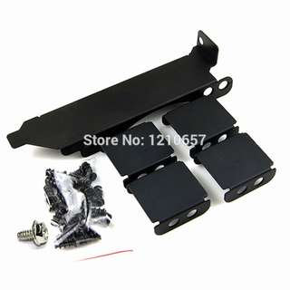 Triple Fans Rack Mount PCI Slot Cover Bracket Video Card Cooling for 80-90mm