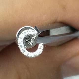 18k鑽石(單隻耳環)