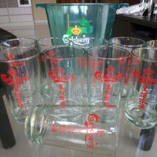 Carlsberg beer glasses