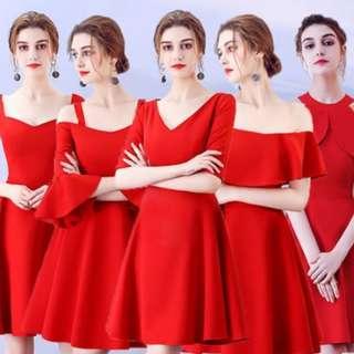 Bridesmaid Dress Red Series Short 6 Design #budgetbride #budgetwedding