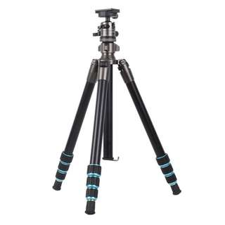 Gizomos GA-26A4 + GHA-30D Professional Camera Tripod + Monopod + Ballhead (Multi Colour Tripod for DSLR or Mirrorless Camera)