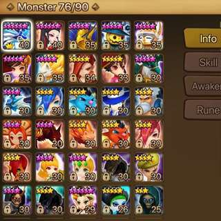 Summoners War Global Level50 Account