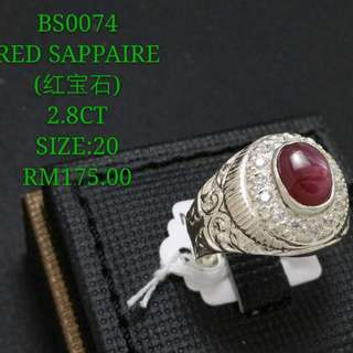 Men ring (BS0074 CHORITE CRYSTAL)