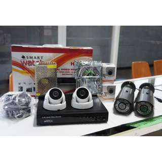 CCTV 1080P HD with 1TR Storage (2pcs D030W and B020G HD Camera)