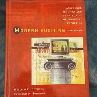Modern Auditing Eighth Edition