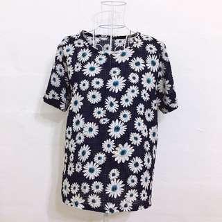 Navy Blue Printed Tshirt