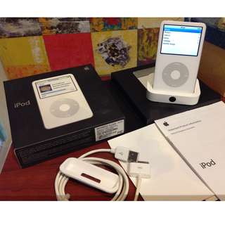 ipod classic 5.5th gen 80gb white box