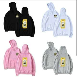 Preorder- BTS BT21 ChimmyHoodie (size xxs-3xl, dark blue/black/pink/white/grey) exc.pos