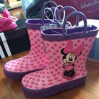 BNWT Disney Minnie rain boots