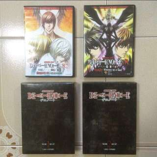 Death Note  Complete Anime Season ( episode 1 to 37 )         +  Part 1 and 2 of OVA  Death Note - Relight: Visions Of A God Death Note - Relight 2: L's Successor