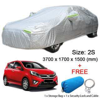 2S Size FULL Car Cover Outdoor Sun Protection Dust Rain Protect Car Hatchback