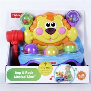 Brand New in Box Fisher-Price Bop & Rock Musical Lion
