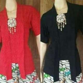 Kebaya - kebaya kutu baru - blouse - kemeja - batik kutubaru - batik embos