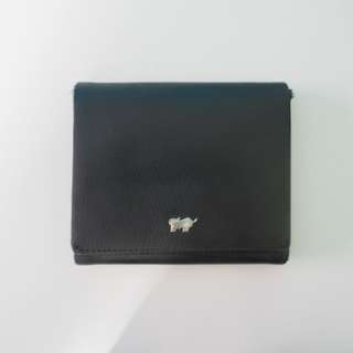 BRAUN BUFFEL Trifold Wallet with Faux Fur