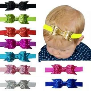 Baby Girl/Toddler Giltter Ribbon Headband