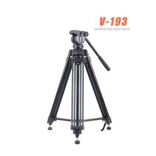 Gizomos V193 Video Tripod with Fluid head 50mm Bowl system