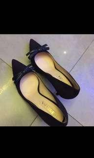 Prada - dark purple blue ribbon high heels