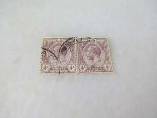 Straits Settlement 4C KGV Block of 2 #M87