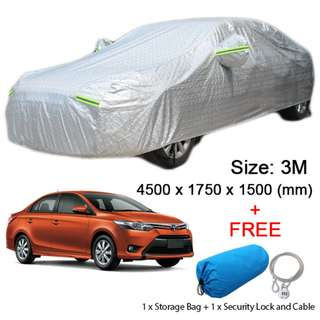 3M Size FULL Car Cover Outdoor Sun Protection Dust Rain Protect for Sedan Car