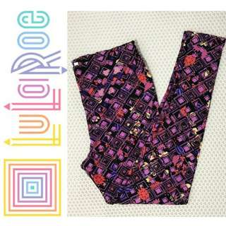 LULAROE pattern legging (purple motif) .