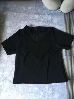 Black chocker Crop Top